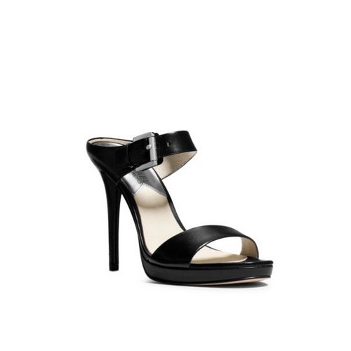MICHAEL MICHAEL KORS Beverly Leather Mule BLACK