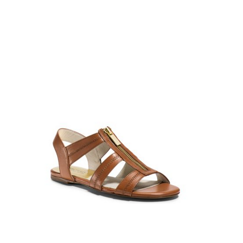 MICHAEL MICHAEL KORS Berkley Leather Sandal LUGGAGE