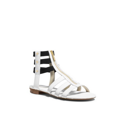 MICHAEL MICHAEL KORS Codie Leather Sandal OPTIC WHITE