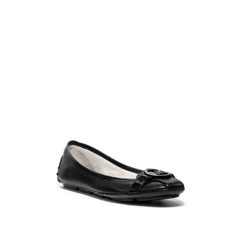 MICHAEL MICHAEL KORS Fulton Leather Contrast Moccasin BLACK