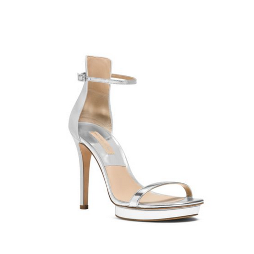 MICHAEL MICHAEL KORS Doris Leather Pump SILVER