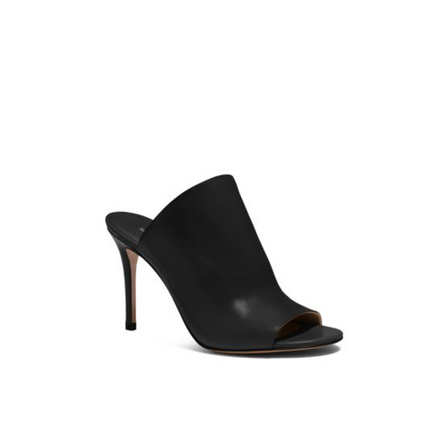 MICHAEL MICHAEL KORS Burnett Leather Mule BLACK