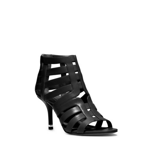 MICHAEL MICHAEL KORS Susie Leather Cutout Sandal BLACK