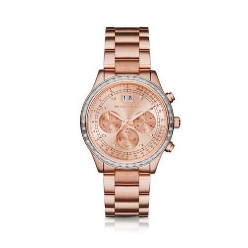MICHAEL KORS Brinkley Pavé Rose Gold-Tone