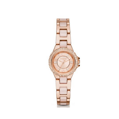 MICHAEL KORS Petite Camille Rose Gold-Tone Watch