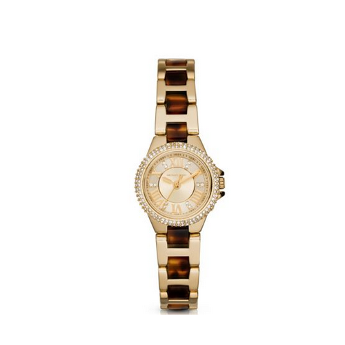 MICHAEL KORS Petite Camille Tortoise Acetate Watch