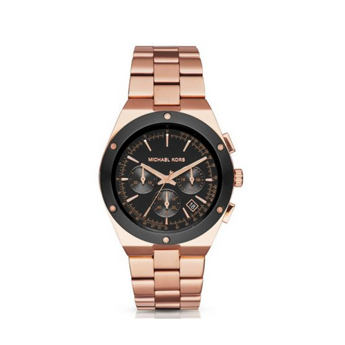MICHAEL KORS Reagan Rose-Gold Tone Watch