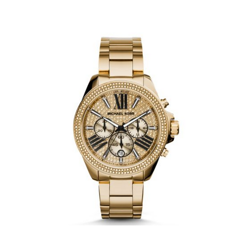 MICHAEL KORS Wren Pavé Gold-Tone Watch