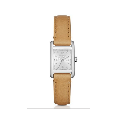 MICHAEL KORS Taylor Silver-Tone And Leather Watch