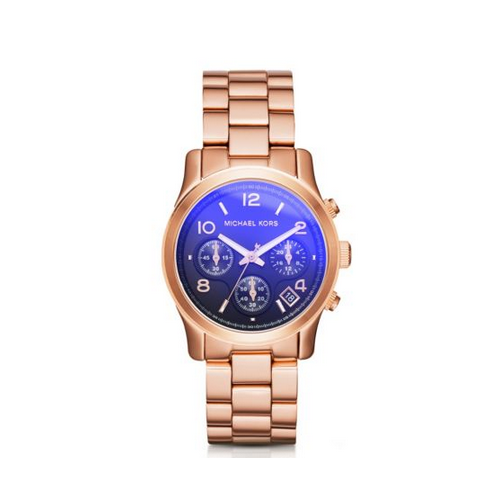 MICHAEL KORS Runway Flash Lens Rose Gold-Tone Watch
