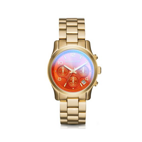 MICHAEL KORS Runway Flash Lens Gold-Tone Watch