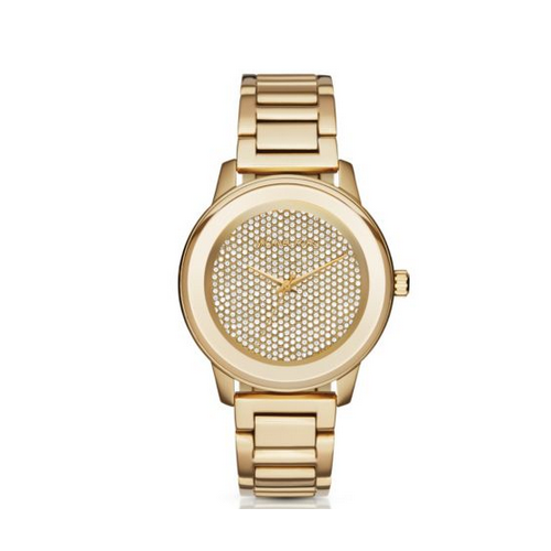 MICHAEL KORS Kinley Pavé Gold-Tone Watch