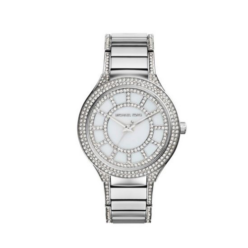 MICHAEL KORS Kerry Pavé Silver-Tone Watch