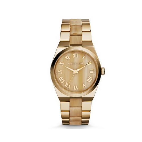 MICHAEL KORS Channing Gold-Tone Horn Acetate Watch