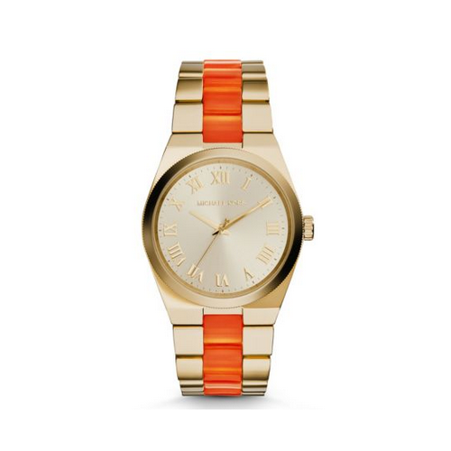 MICHAEL KORS Channing Gold-Tone Acetate Watch