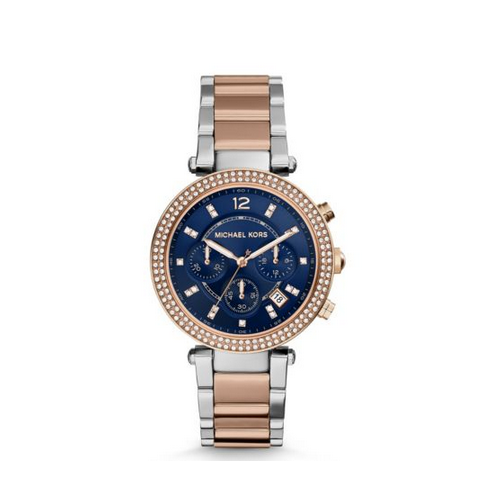 MICHAEL KORS Parker Pavé Two-Tone Watch