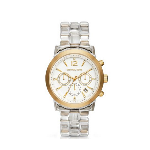 MICHAEL KORS Audrina Clear Acetate Watch