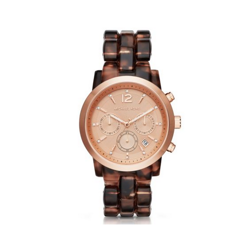 MICHAEL KORS Audrina Tortoise-Acetate And Rose Gold-Tone Watch