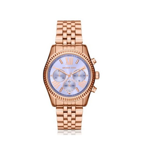 MICHAEL KORS Lexington Petite Rose Gold-Tone Watch