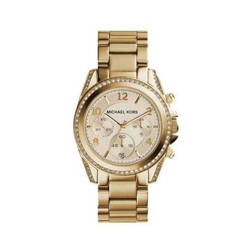 MICHAEL KORS Blair Gold-Tone Chronograph Watch