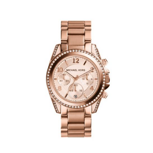MICHAEL KORS Blair Rose Gold-Tone Chronograph Watch