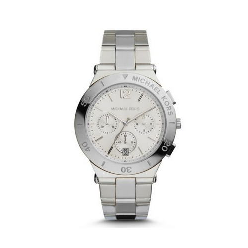 MICHAEL KORS Wyatt Silver-Tone Watch