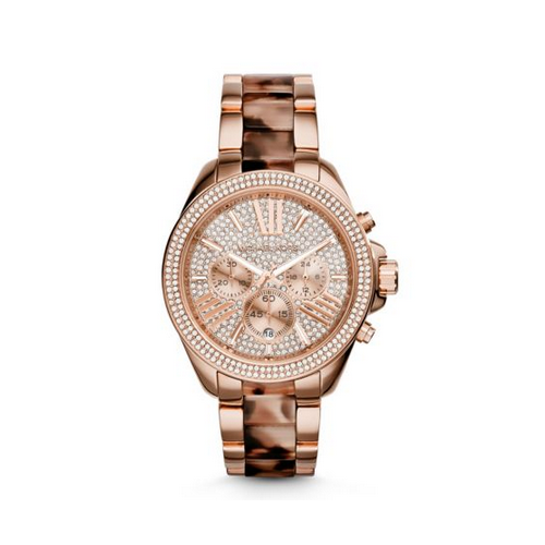 MICHAEL KORS Wren Rose Gold-Tone Acetate Watch