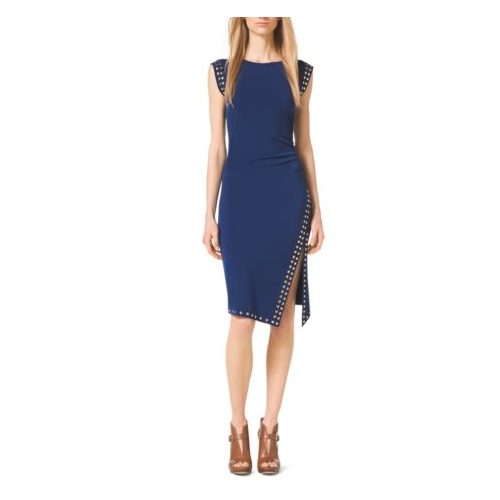 MICHAEL MICHAEL KORS Studded Jersey Dress PRUSSIAN BLUE