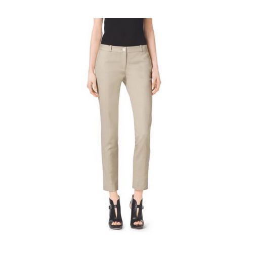 MICHAEL MICHAEL KORS Miranda Stretch-Cotton Pants KHAKI