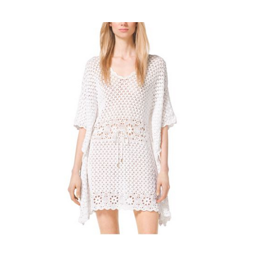 MICHAEL MICHAEL KORS Crochet Tunic Dress WHITE