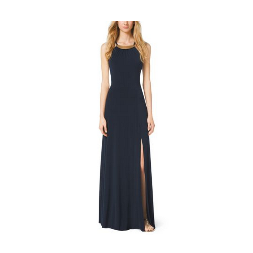 MICHAEL MICHAEL KORS Embellished Maxi Dress NAVY