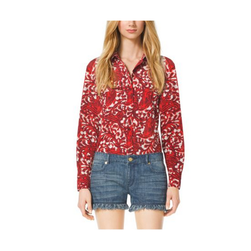 MICHAEL MICHAEL KORS Paisley Button-Down Shirt GRENADINE