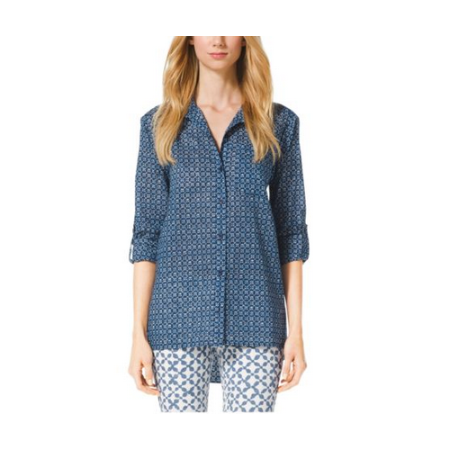 MICHAEL MICHAEL KORS Printed Cotton Shirt HERITAGE BLUE