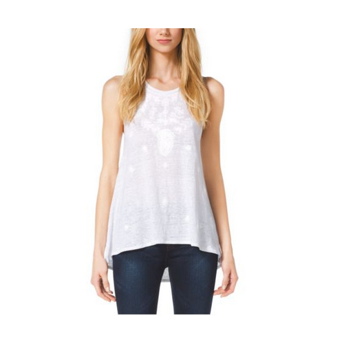 MICHAEL MICHAEL KORS Embroidered Jersey Tank WHITE