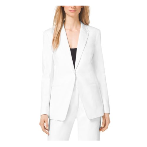 MICHAEL MICHAEL KORS Cotton-Twill Blazer WHITE