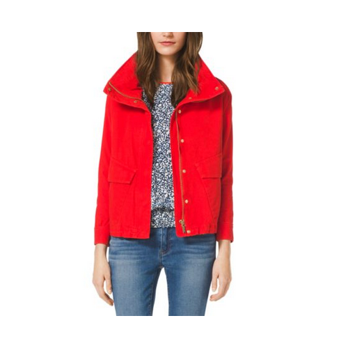 MICHAEL MICHAEL KORS Cropped Canvas Jacket GRENADINE