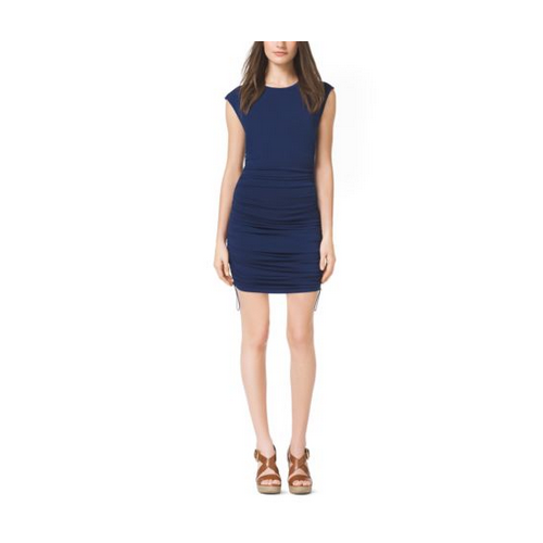 MICHAEL MICHAEL KORS Ruched Jersey Dress, Petite PRUSSIAN BLUE