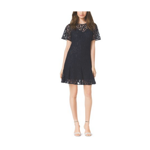 MICHAEL MICHAEL KORS Lace Dress, Plus Size NAVY