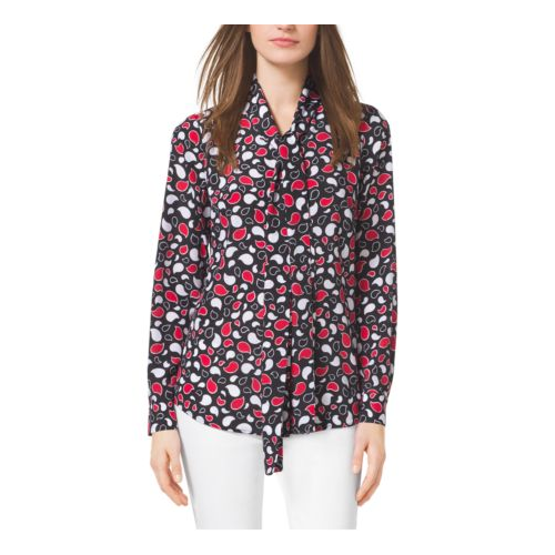 MICHAEL MICHAEL KORS Paisley Blouse TRUE RED