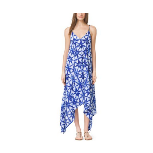 MICHAEL MICHAEL KORS Tie-Dye Crepe Dress ROYAL