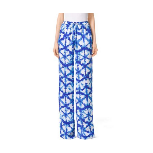 MICHAEL MICHAEL KORS Tie-Dye Wide-Leg Pants ROYAL